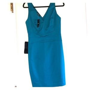 Bebe Charlene Zip Tank Dress Aqua Blue Size 6 NWT